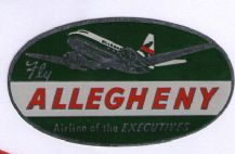 Airline luggage label Allegheny air line .  #847